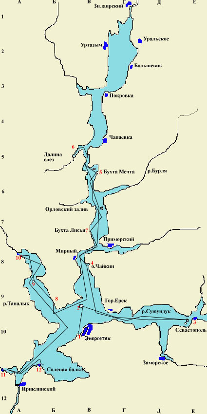 карта рыболова башкортостана